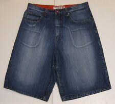 34 Men Brooklyn Xpress Jeans Co. Flat Front Denim Jean Shorts Blue Cotton EUC