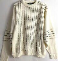 Vintage Alan Stuart Mens Size Medium Crew Neck Pullover Knit Cosby Sweater EUC
