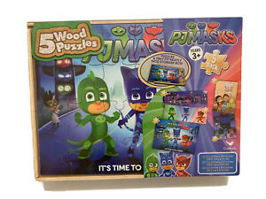 PJ Masks It's Time to be a Hero 5 Wood Jigsaw Puzzles AU
