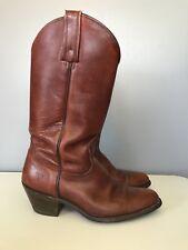Vintage FRYE 2356 Burgundy Leather Western Cowboy Boots Men's 9.5 D