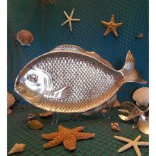 New Beautiful Pewter Fish Serving  Food Tray Platter