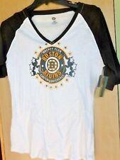 NWT Boston Bruins NHL Hockey Ladie's V-Neck T-Shirt XL Ships Free