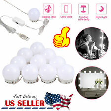 10X Vanity LED Mirror Light Kit For Makeup Hollywood Mirror with Dimmable Light