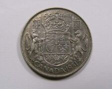 Canada King George VI Silver 50 Cents 1951 Lion & Unicorn SCARCE
