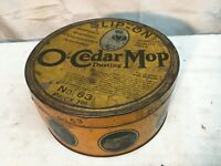Vintage O-Cedar Mop Advertising Tin Canister 1929 No 63 Primitive 7in