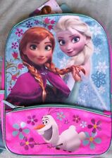 Disney FROZEN Elsa Anna Sparkly Backpack Lunchbox NEW +FOLDER Book Bag Lunch Box