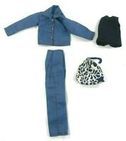 Barbie Vintage Clone Teen Skipper Matching Blue Pants & Jacket Bag Top