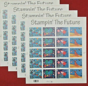 Four Sheets x 20 = 80 STAMPIN' THE FUTURE 33¢ US USA Postage Stamps Sc 3414-3417