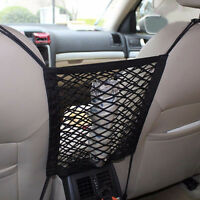1x Car Seat Gap Cargo Organizer Storage Net Elastic Nylon Hammock Holder Mesh