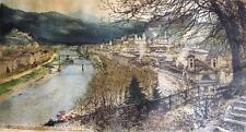 After Luigi Kasimir Salzburg city view Alexander von Humboldt etching signed