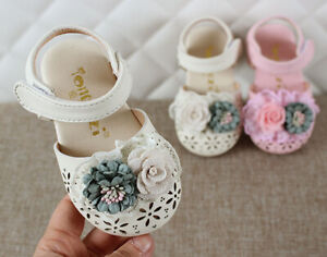 Toddler Children Kids Baby Girls Princess Summer Closed Toe Flower Beach Sandals
