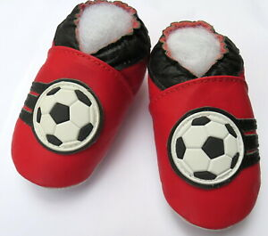 baby shoes Soccer red 4-5 yearsminishoezoo soft sole leather free shipping