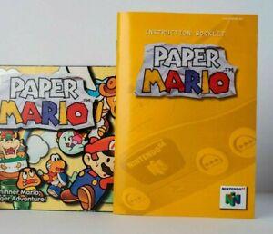 Paper Mario N64 Nintendo Reproduction  Box & Manual no Game