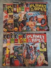 Planet of the Apes 1974 UK Marvel Comic Magazine Lot  Issues #3-12