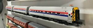 MTH Amtrak Phase III 3-Car Amfleet Passenger Set O Scale with Passengers