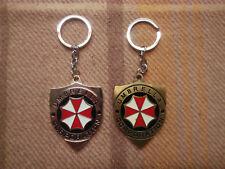 Resident Evil Umbrella Corporation Keychain Gold Silber Schlüsselanhänger Metall