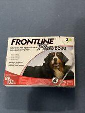 Frontline Plus Dog Flea Tick Lice Treatment Xl Large Pet 3 Doses 89-132 Pounds