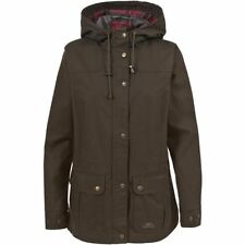 Knee Length Cotton Checked Outdoor Coats & Jackets for Women