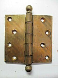 "Stanley SW Sweetheart 4"" Square Mortise Barn Door Ball Tip Hinge Brass 1 Antique"