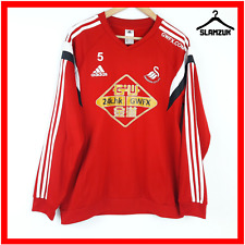 Swansea City Football Jumper Adidas L Large Training Top Soccer Jersey Player 5
