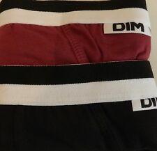 Pack 2 calzoncillos Slip Unno DIM algodon Elastico negro-rojo M/3