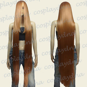 "50"" Heat Resistant Long Straight Wigs w 22"" long Bangs Light Brown Cosplay 99LLB"
