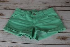 Celebrity Pink juniors size 3 drab Light green short shorts casual cotton, A1