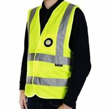Unilite Yellow Hi Vis Vest + USB Rechargeable LED Light XL Size SV-01YXL Safety