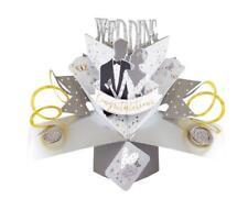 3d Pop up Card Wedding Blank Greeting Cards Keepsake Lovely Bride & Groom Gift