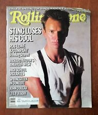 Rolling Stone Magazine September 26, 1985 - Sting - Rob Lowe - John Cougar