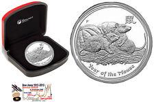 Austral. Lunar 2 SILVER-Coin, MOUSE/RAT  1 oz, PROOF,  boxed + COA,