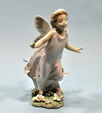 Rare Lladro Butterfly Wings Girl Fairy Figurine #6875 Mint Condition