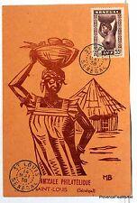 CARTE MAXIMUM  SAINT LOUIS DU SENEGAL    1938   AV51