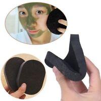 Bamboo Black Charcoal Facial Puff Sponge Face Deep Cleansing Washing Exfoliator