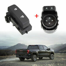 Door Lock Switch+Mirror Switch Driver Side for GMC Chevy Silverado Control Part