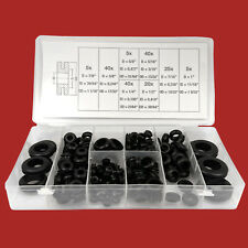 180-tlg. Durchgangstüllen Sortiment Gummi-Tüllen Set-Box Kabel Durchführung Satz
