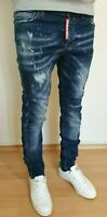 NWT MENS DSQUARED2 BLUE SLIM JEANS ALL SIZES  L32