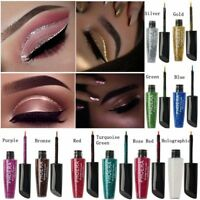 Waterproof Shimmer Eyeshadow Glitter Liquid Eyeliner Metallic 36 Colors Cosmetic