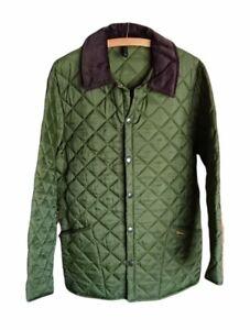Men's Barbour Liddesdale Quited Jacket Medium - Olive Green