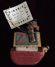 House of Hatten TWO BY TWO NOAH'S ARK Ornament Rare Calla 1994 Giraffe w Tag