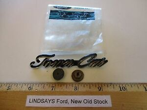 """FORD 1980/1981 LINCOLN CONTINENTAL(D)  L/C NAME PLATE """"TOWN CAR"""", W/ATTG. PARTS"""