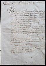 1765 manuscrito de Buenos Aires Argentina Español Guerra expulsar a Brasil portugués..