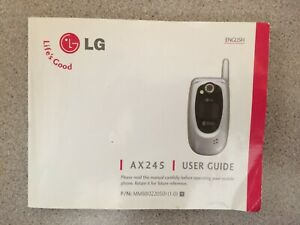 LG AX245 user guide owners manual for cell phone