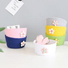 HOT Foldable Cotton Rope Desktop Woven Laundry Toy Storage Basket Box