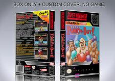 SUPER PUNCH OUT. NTSC FORMAT. Box/Case. Super Nintendo. BOX + COVER. (NO GAME).
