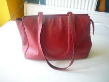 sac à main vintage Ungaro en cuir rouge