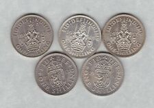 More details for five 1937/1945/1948/1953 & 1963 scottish shillings in mint condition
