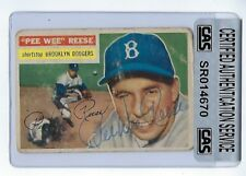 Pee Wee Reese 1956 Topps Autographed Signed Card #260 CAS Authentic