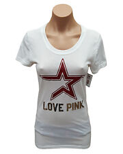 Women's Houston Astros PINK by Victoria's Secret Kiss Cam T-Shirt (Small, White)
