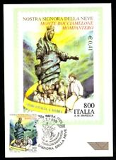Italy 1999: our Lady of Snow (Turin) - Philatelic postcard